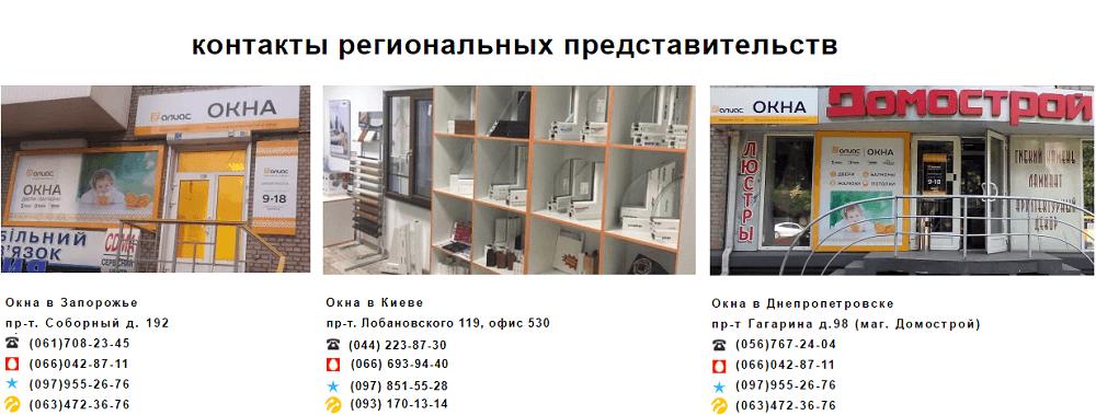 Представительства компании Алиас-Одесса25